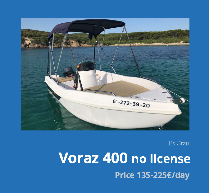 0-Voraz-400-boat-rental-without-license-menorca