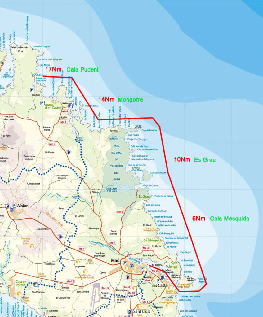 sailing-routes-in-menorca-ruta-noreste