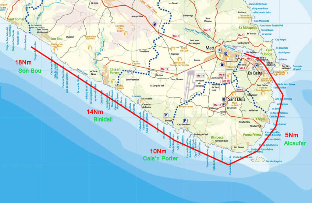 sailing-routes-in-menorca-ruta-sureste