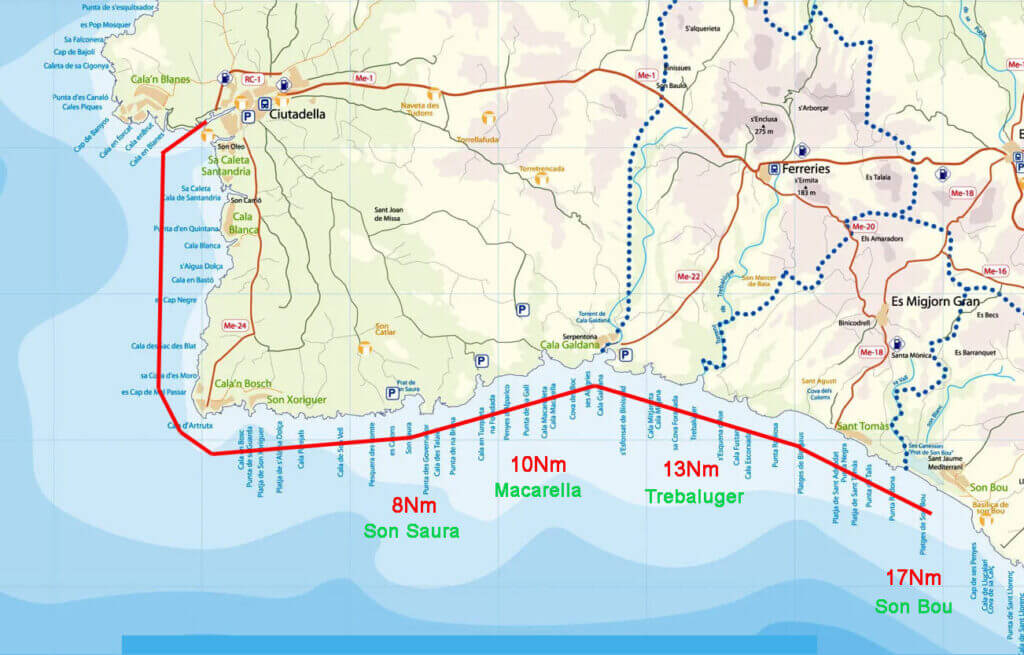 sailing-routes-in-menorca-ruta-suroeste