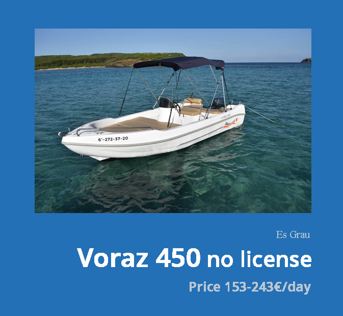 0-Voraz-450-boat-rental-without-license-menorca