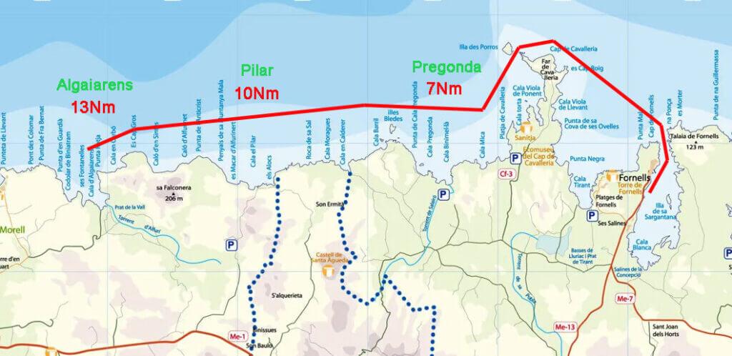 ou-naviguer-à-minorque-route-fornells-ouest