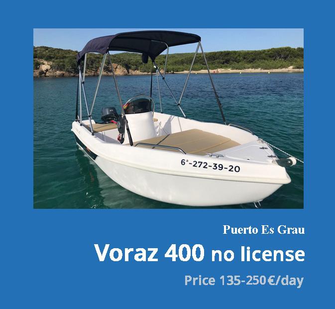 0-Voraz-400-boat-rental-without-license-menorca