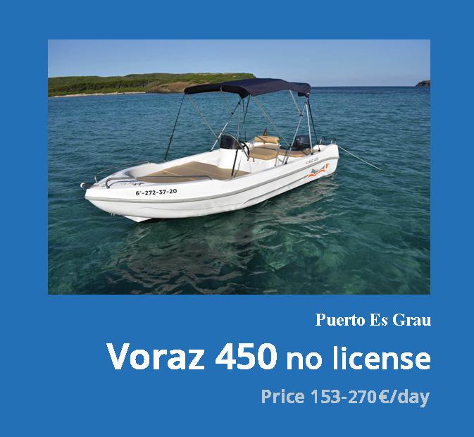 0-Voraz-450-boat-rental-without-license-menorca
