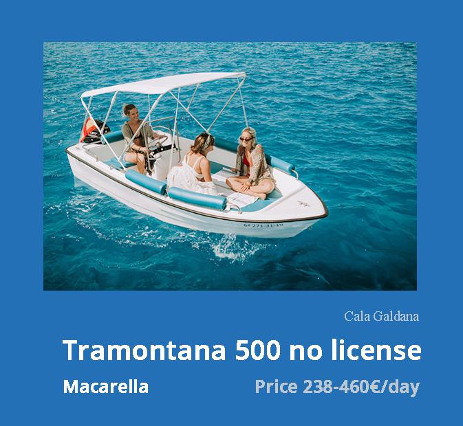 1-tramontana-500-boat-rental-without-license-galdana-menorca