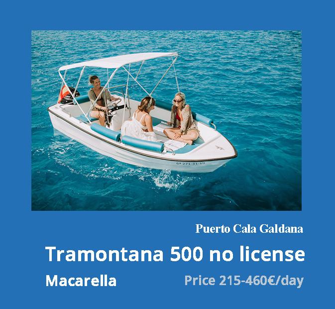 1-tramontana-500-noleggio-barche-senza-patente-galdana-minorca